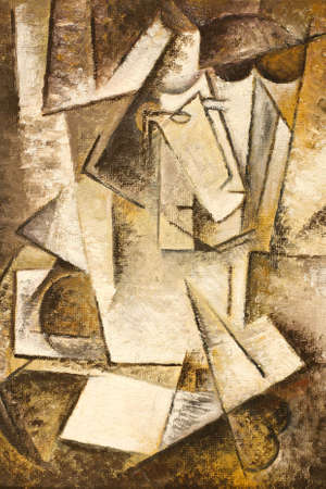 abstract cubism oil painting Stock Photo - 11931510