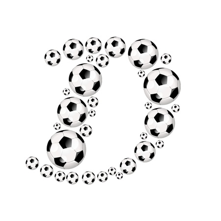 cup: Football, Soccer alphabet, letter D Stock Photo