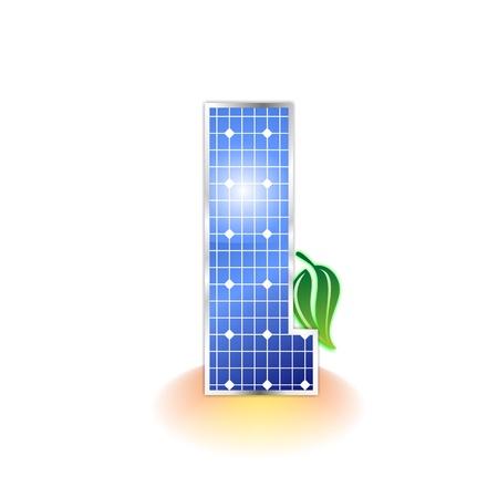 solar panels texture, alphabet letter l icon or symbol Stock Photo