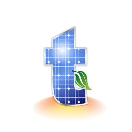 Panneaux solaires texture, alphabet lettre t icône ou symbole Banque d'images - 20341293