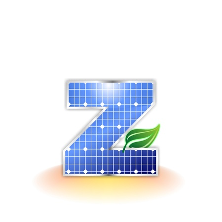 solar panels texture, alphabet letter z icon or symbol
