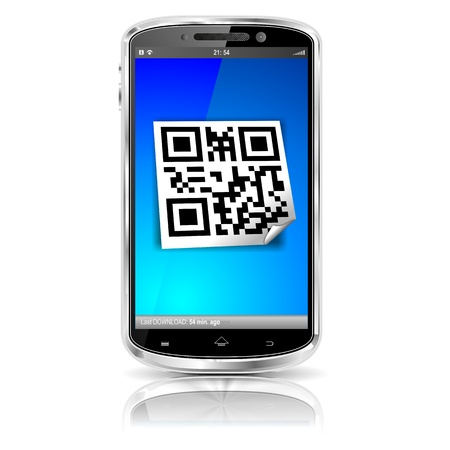 smartphone QR code photo