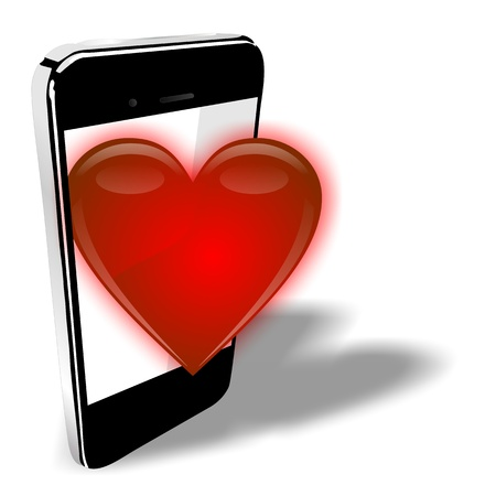 landlines: SMART HEART PHONE  Stock Photo