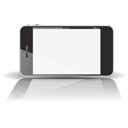smartphone horizontal - mirror  photo