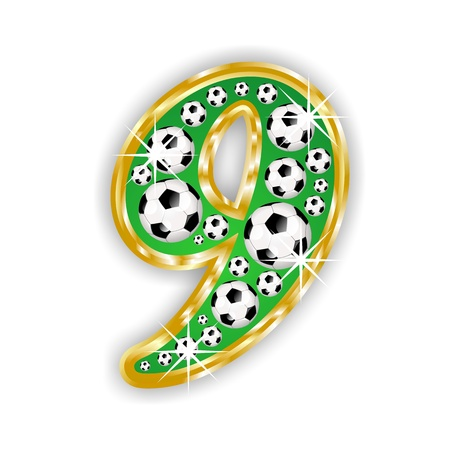 SOCCER FOOTBALL NUMBER 9 photo