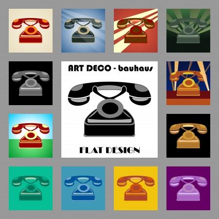bauhaus: art deco - flat design - phone icon