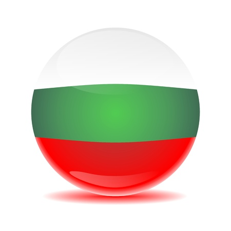3-D, isolated, glossy sphere with a unique multi colored shadow reflection photo