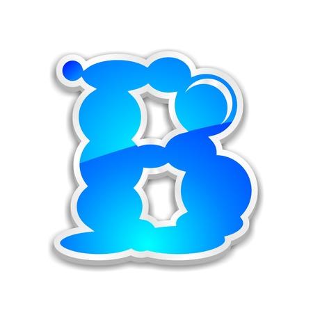 b days: cloud alphabet letter b Stock Photo
