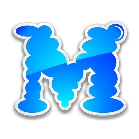 letra m: nube alfabeto letra m