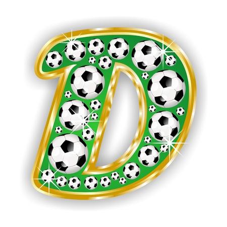 ntilde: soccer capital letter D on field with golden frame