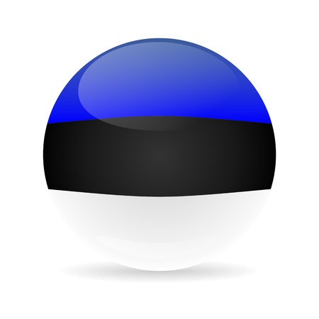 Estonia flag sphere colored shadow photo