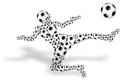 soccer player abstract illustration illustration