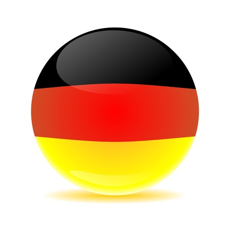 Germany flag sphere colored shadow photo