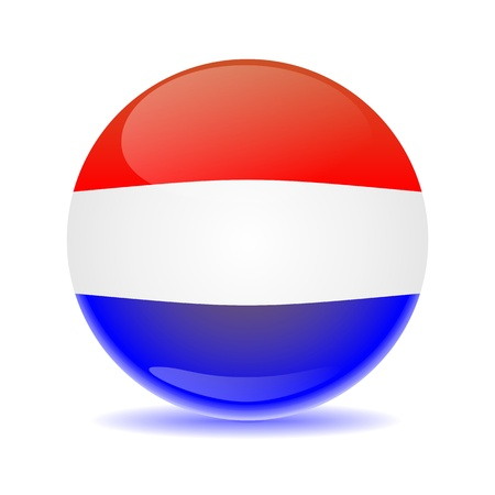 Netherlands flag sphere with multi colored shadow photo