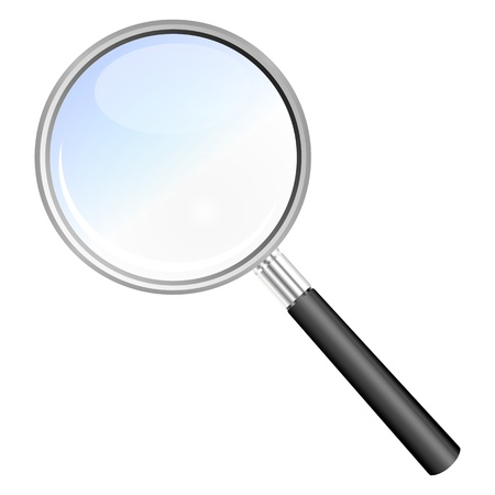 magnifying glass isolated illustration Stock Photo