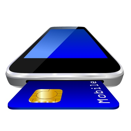 smartphone, mobile payment credit card for m-commerce or mcommerce photo