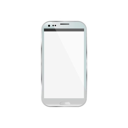 white smartphone isolated  photo
