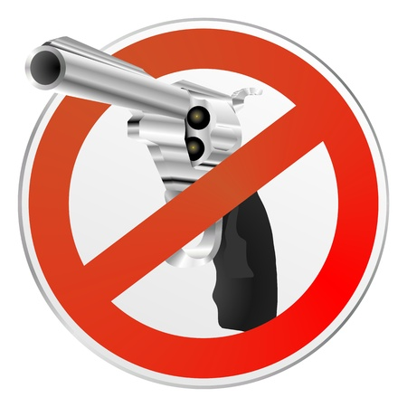 gun control sign photo