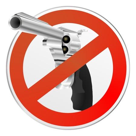 gun control: gun control sign Stock Photo