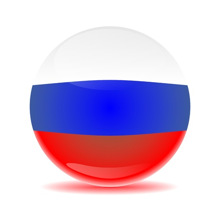 Russia flag sphere with colored shadow Stock Photo