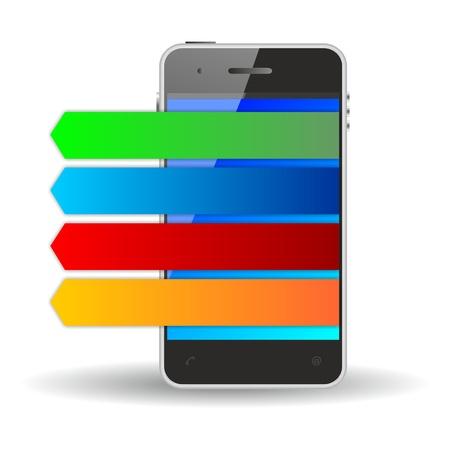 stipes: smartphone  Stock Photo