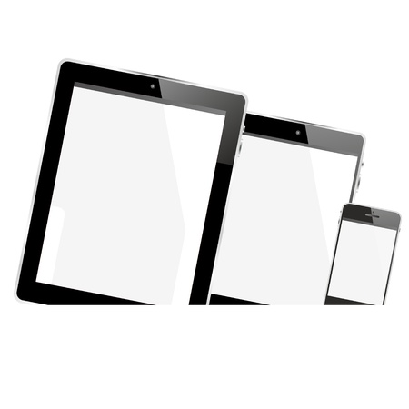 tablet pc smartphone banner Stock Photo - 20466306
