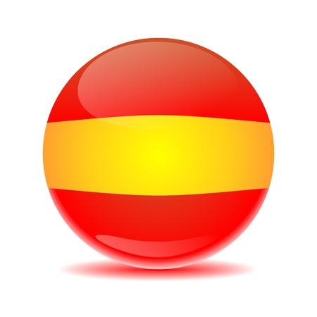 Spain flag sphere with colored shadow