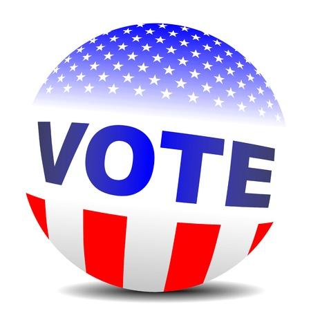 meta: Vote badge sphere Stock Photo