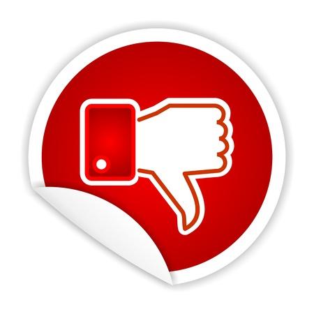 dislike, unlike sticker