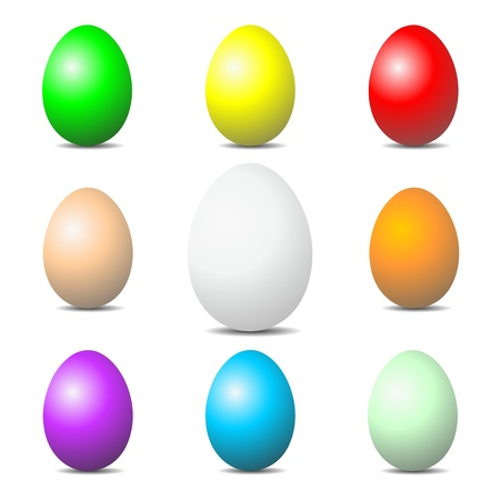 EASTER EGGS color set photo