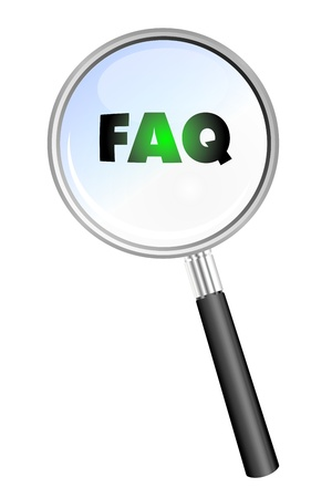 FAQ magnifying glass photo