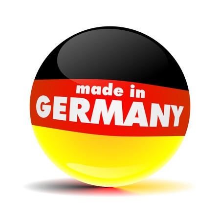 made in GERMANY SPHERE Stock Photo - 20758742