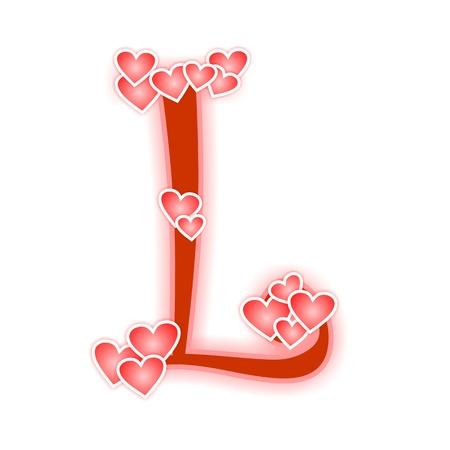 Love Letter, alphabet L Zdjęcie Seryjne