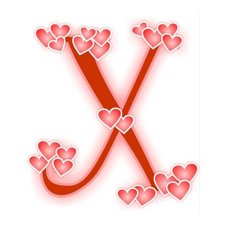 Love Letter, alphabet X Zdjęcie Seryjne