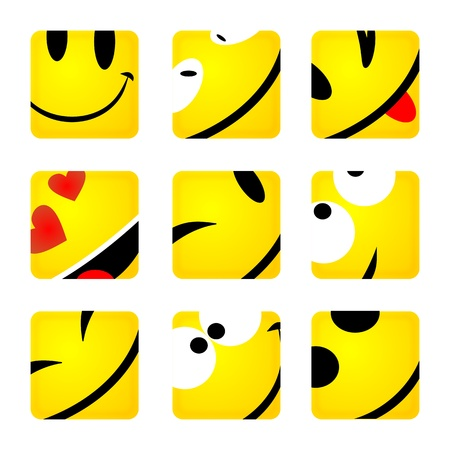 crazy smiley buttons photo