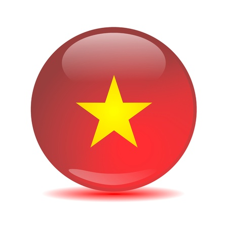 Vietnam Flag Sphere photo