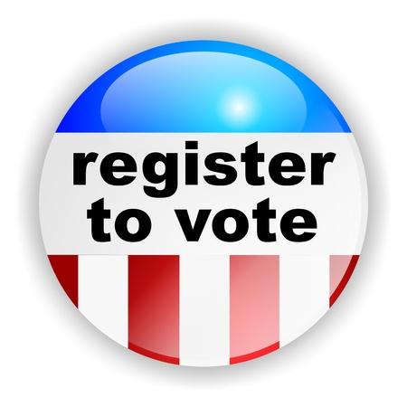 republican party: vote badge, register to vote