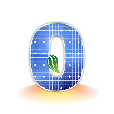 solar panels texture, number 0 icon or symbol