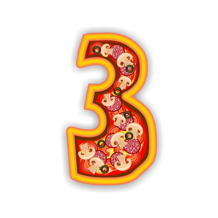 PIZZA - NUMBER - 3 photo