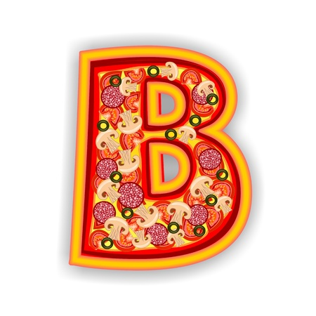 PIZZA - LETTER - B of the alphabet photo