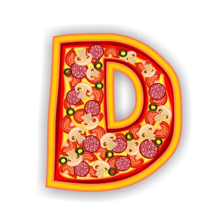 PIZZA - LETTER - D of the alphabet photo