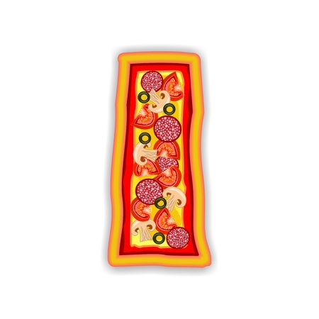 PIZZA - LETTER - I of the alphabet