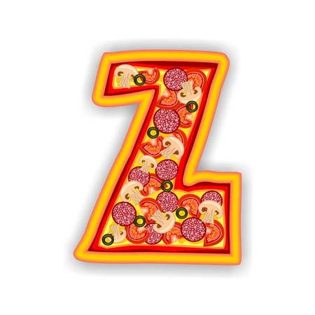 PIZZA - LETTER - Z of the alphabet