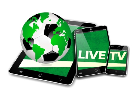 MOBILE SOCCER DEVICES, LIVE TV INTERNET BROADCAST photo