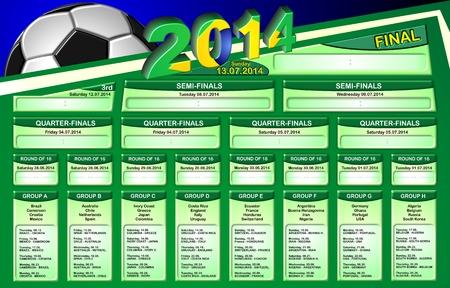 Schedule 2014 BRAZIL - english Zdjęcie Seryjne