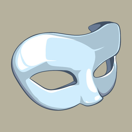 carnival costume: white mask isolate Stock Photo