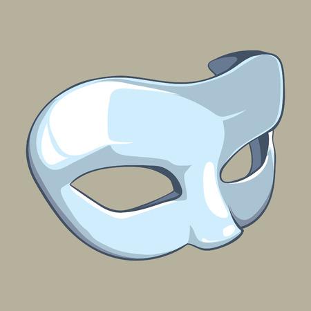 carnival mask: white mask isolate Stock Photo
