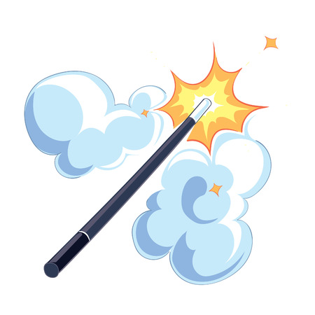 magic wand on white background