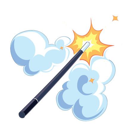 thaumaturge: magic wand on white background