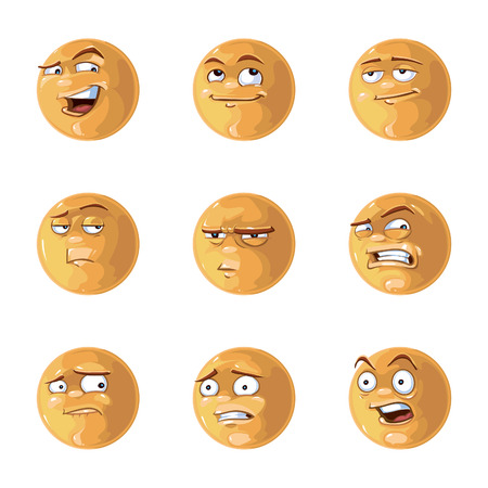 angry people: Vector illustration of cool glossy Emotions pack